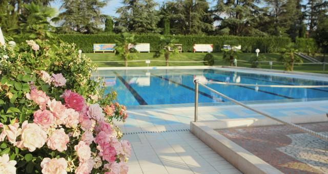 The outdoor swimming pool and the summer garden will be open from the 27th of May
