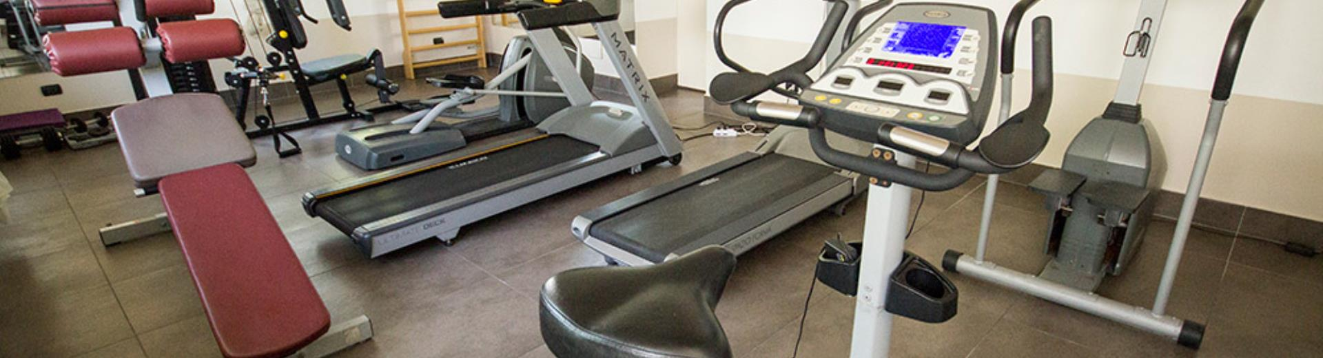 Picture of the indoor gym at the Hotel Modena Resort